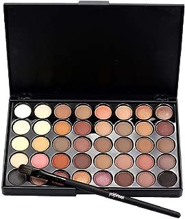 Rape Flower💗 Cosmetic Matte Eyeshadow Cream Makeup Palette Shimmer Set 40 Color+ Brush Set