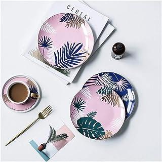 الصحن Creative Porcelain Dinnerware Plate Dish Restaurant Supplies White Porcelain Plate Ceramic Plate .مجموعة أدوات المائ...