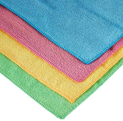 Vileda - Set de 4 bayetas Microfibras Colors XL, colores variados, 36 x 34 cm, 4 unidades