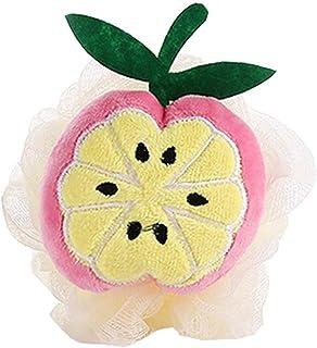 4Pcs Cute Fruit Soft Mesh Bath Sponge Brush Exfoliation Massage Scrubber