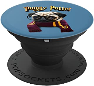 Puggy Potter magic wizard Pug - Cute Pug - Funny Puppy - PopSockets Grip and Stand for Phones and Tablets