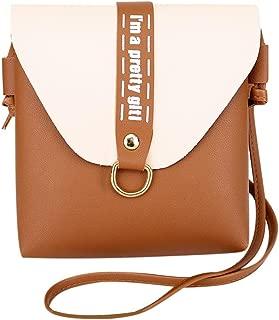 Everpert Women Girls Messenger Bags Pu Leather Shoulder Mini Satchel Handbags/Pink