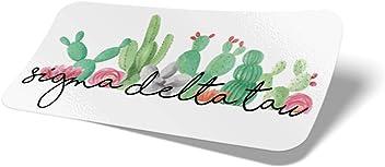 Color//Letter Name Sticker Desert Cactus Sigma Delta Tau 2-Pack Color Letter//Name Sticker Decal Greek for Window Laptop Computer Car Delts Sig Delt