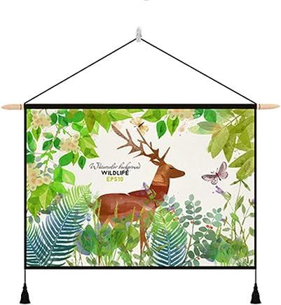 JTWJ 中国のタペストリー背景布insぶら下げ布北欧リビングルームぶら下げ画像布メーターボックスカバー背景壁diy壁布25.5×16.9インチ (Color : A)