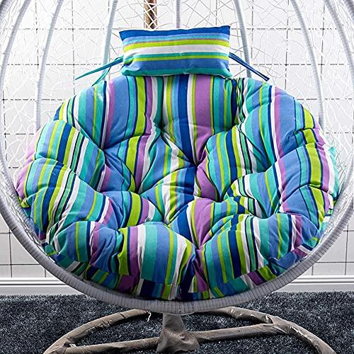 LLKK Cojín para silla de columpio para exterior engrosar colgante huevo hamaca cojín suave silla Papasan cojín sin soporte para jardín al aire libre E