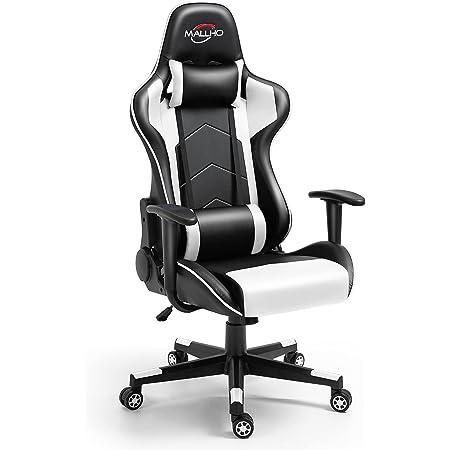 Polar Aurora Gaming Chair Racing Style High-Back PU Leather Office Chair Computer Desk Chair Executive Ergonomic Swivel Chair Headrest Lumbar Support