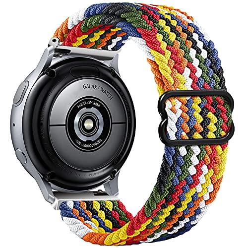 Vecann Intrecciato Cinturino Compatibile Con Galaxy Watch Active 2 40mm 44mm, 20mm Cinturino di Sportivo Elastico Regolabile per Galaxy Watch 3 41mm/Galaxy Watch 42mm/Active 40mm/Gear Sport/S2 Classic