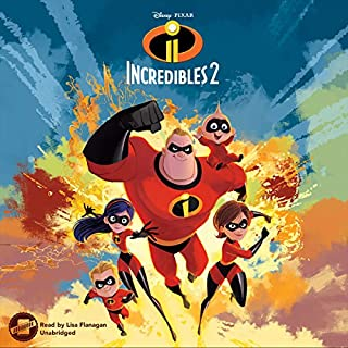 Incredibles 2 audiobook cover art