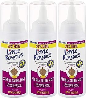 Little Remedies Sterile Saline Nasal Mist, 3 oz, Pack of 3