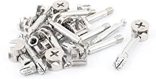 Aexit Knock Down Nails, Screws & Fasteners Furniture Cam Lock Fitting Dowel Assembly Nut & Bolt Sets 11 Sets