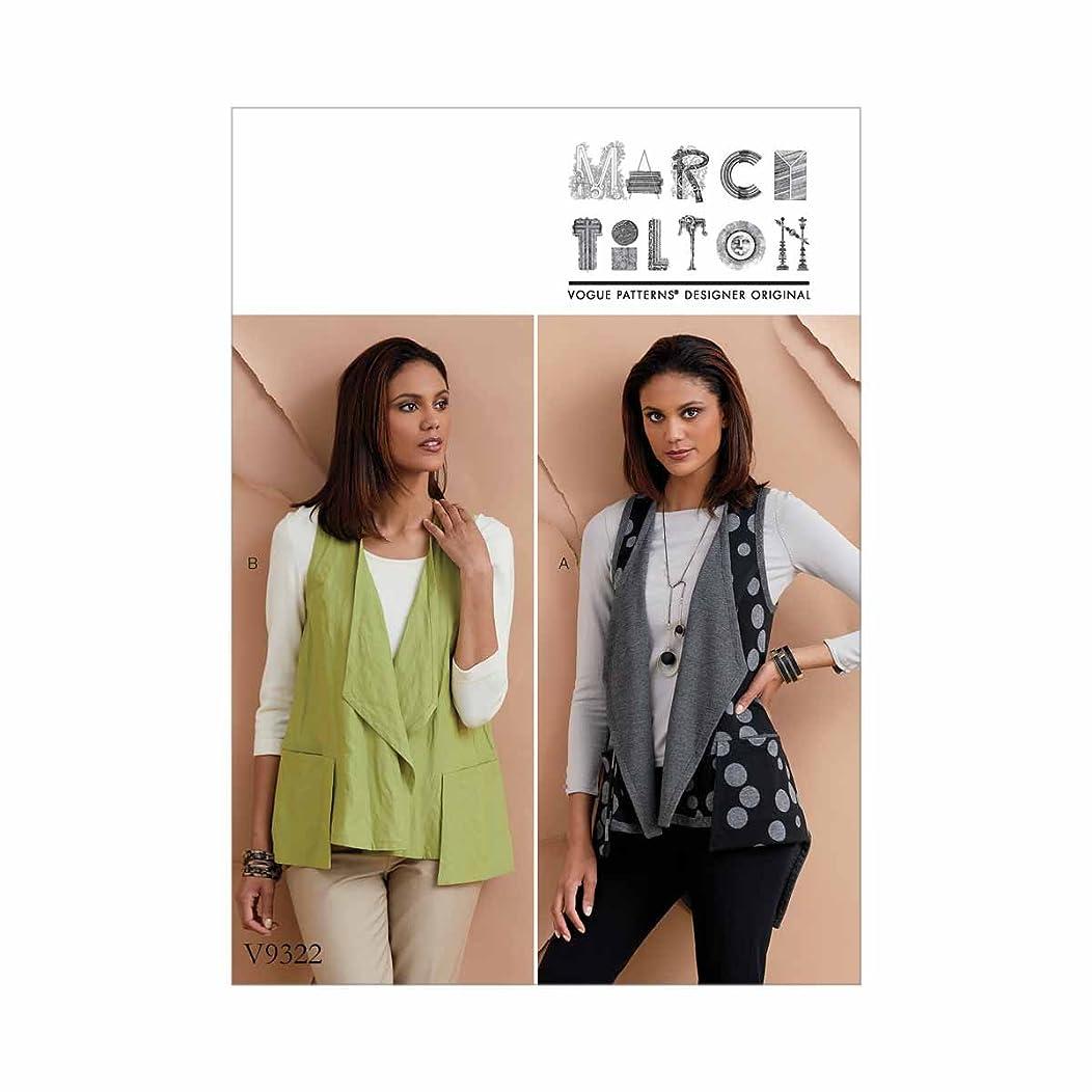 Vogue Patterns V93220Y0 Misses' Vest, XS-S-M, Green
