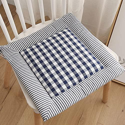 Rainny Cojín para silla de celosía, cojín de jardín, oficina, hogar, cojín de asiento Tatami, cojín de asiento al aire libre, cojín de sofá (color: azul oscuro, especificación: 40 x 40 cm)
