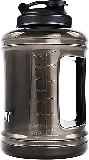BOTTLED JOY Big Water Jug 2.5 L / 83 OZ Large Capacity Sports Water Bottle with Handle - Reusable BPA Free Plastic Half Ga...