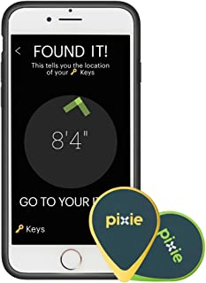 Pixie (4-pack) – Find your lost items faster by SEEING where they are. Lost item tracker/finder for Keys, Luggage, Wallet (iPhone 6/6S Plus case included)