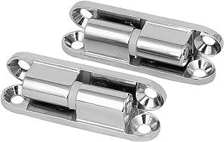 sourcingmap® Bisagra de puerta desmontable con 90 grados de rotación para armario de aleación de zinc 2pcs tono plata