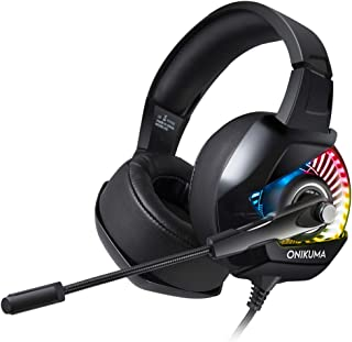Gaming Headset, Wired PC Gaming Headphone with Mic for PS4, Xbox One S, Nintendo Switch, PC, Laptop, Tablet, Mobile