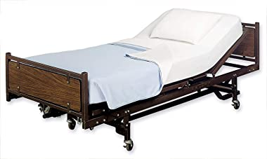 """4 Pack Fitted Hospital Bed Sheets - Soft Knitted Jersey Sheet 36"""" x 84"""" x 14"""""""