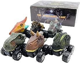 伊豆シャボテン本舗 恐竜 おもちゃ フィギュア ミニカー 6個セット ティラノサウルス 子供 誕生日