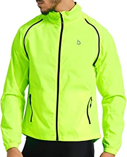 BALEAF Men's Cycling Running Jacket Convertible Sleeves Reflective Summer Windbreaker Vest Lightweight Visibility