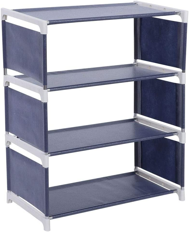 4 Layers Upright Standing Shoes + Rack Special sale item Stainless Genuine Free Shipping Non-Woven Steel