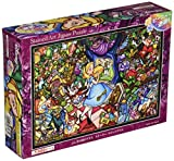500 piece jigsaw puzzle stained art Alice in Wonderland story stained glass tightly series small pieces (25x36cm)
