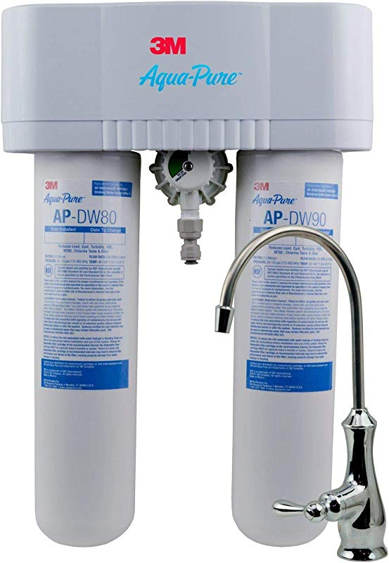 3M Aqua Pure Under Sink Water Filter System AP DWS1000 Dedicated Faucet Reduces Particulate Chlorine Taste And Odor Lead Turbidity Cysts VOCs MTBE