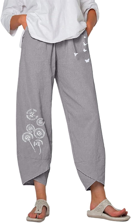 Capri Harem Pants Albuquerque Mall for Women Kcocoo Wide Leg Casual Et Outstanding Boho