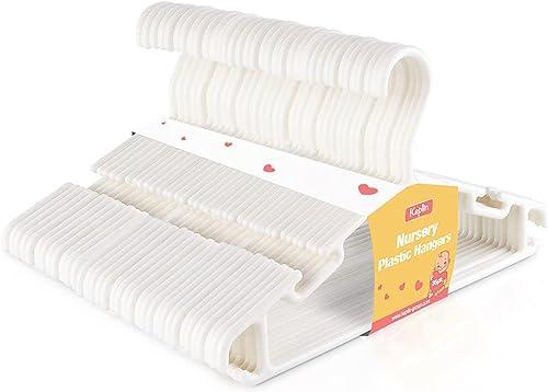 KEPLIN Lot de 36 cintres en plastique antidérapants pour enfants et enfants