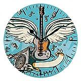 NIUMM Reloj De Pared Amplificador De Guitarra con Alas Dibuj