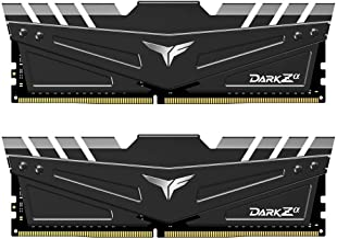 TEAMGROUP T-Force Dark Za (Alpha) (for AMD Ryzen) 32GB Kit (2 x 16GB) 3600MHz (PC4-28800) CL 18 288-Pin DDR4 SDRAM Desktop Gaming Memory Module Ram - Black - TDZAD432G3600HC18JDC01