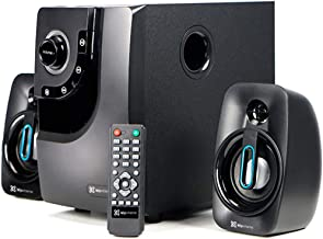 Klip Xtreme BluWave II 2.1 Channel Stereo System with Subwoofer   80 Watt Speaker Sytem with Remote, Compatible with Bluetooth