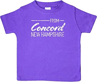 from Concord New Hampshire in White Distressed Text Baby T-Shirt