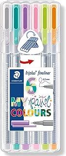Staedtler Triplus Fineliner Pens 6-Color Pastel Set