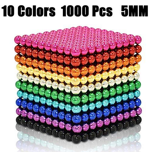 JIFENGTOYS 10 Colors 1000 Pieces Magnets Building Toys Magnetic Fidget Blocks...