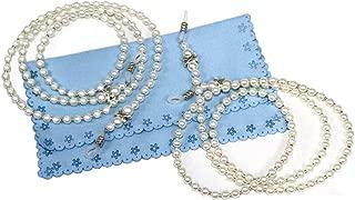 2 Pcs Fashion White Small Pearl Beaded Eyeglass Chain Sunglass Holder Strap Lanyard Necklace