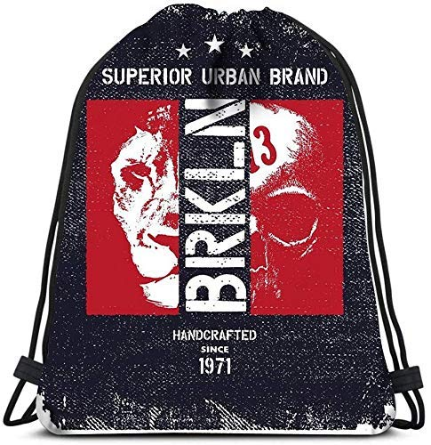 Hdadwy Mochila con cordón Bolsas Vintage Urban Fashion Brkly Sports Gym Bag Sackpack String Bag