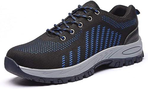 EGS-chaussures Chaussures de Sport en Plein Plein Plein air pour Hommes Chaussures de Travail en Maille tissée, Chaussures de Prougeection, Chaussures de sécurité Anti-écraseHommest Chaussures de Cricket fc1