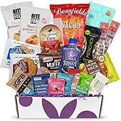 ORGANIC SPECIALTY NON-GMO GOURMET FOOD GIFT BASKET The Bunny James Fitness Box is a collection of the best healthy snacks with 20 of the most nutritious snacks that are indiudaully wrapped. This Gourmet health food gift basket includes a mix of low s...