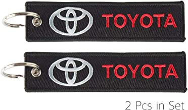2 Pcs in Set Keychain Double Sided for Motorcycles, Jet tag Keychain Scooters, Cars and Gifts (Toyota)