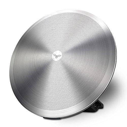 Dardani ILLIRO - Bluetooth Lautsprecher Designed in Germany (20 Watt, Edelstahl, Silber, bis zu 15 Stunden Akku, 3.5mm AUX, Freisprechfunktion, Echo Kompatibel)