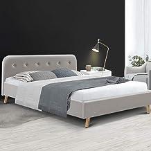 Artiss Pola Bed Frame Fabric - Beige Queen
