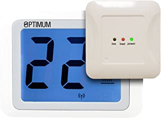 Optimum OP-TOUCHRF - Termostato de radio con pantalla táctil (230 V), color blanco
