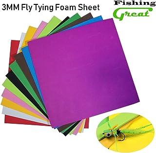 Greatfishing 10 Best Color/Set Fly Tying Foam Sheet Chartreuse Green Orange Floating Dry Fly Grass Hopper Popper Fly Tying...