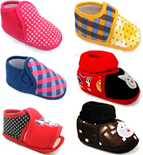 Kids Choice Soft Sole Sandal & Shoes for 3-12 Month's Baby Girl and Baby Boys Combo of 6 Pair (Multicolor Combo -1)