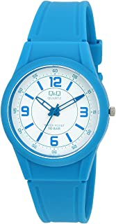 Q&Q Men's White Dial Silicone Band Watch - VQ50J019Y
