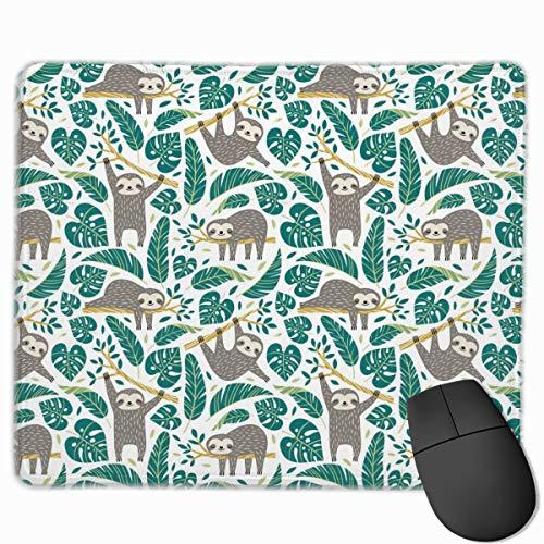 Alfombrilla de ratón de dibujos animados perezoso patrón sin costuras lindo perezosos antideslizante goma Gaming Mouse Mat Rectángulo Mousepad para computadoras portátiles