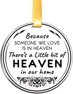 Elegant Chef Memorial Ornament Christmas Keepsake- Because Someone We Love is in Heaven- Remembrance Sympathy Gift
