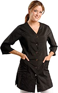 JMT Beauty 3/4 Sleeve Black Salon Smock (M (8))