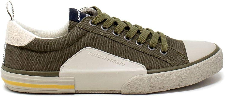 Antony Morato Men's MMFW01077LE500024GREEN Green Cotton Sneakers