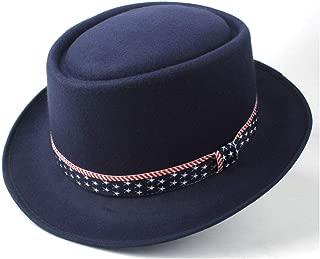 2019 Mens Womens Hats Unisex Men Women Flat Top Pop Church Soft Autumn Winter Fashion Women New Pork Pie Hat with Ribbon Wide Brim Hat Vintage Trilby Hat Casual Wild Hat